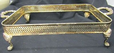 Vintage Silver Plated Footed Casserole Dish Stand