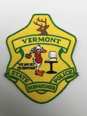 Vermont State Police DISPATCHER old shoulder patch