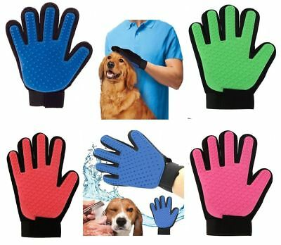 Pet Dog & Cat Grooming Glove Dirt Hair Remover Brush Glove for Gentle Deshedding
