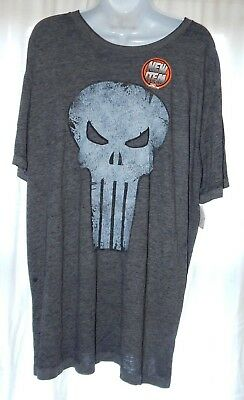 2ad9589a7 Men's Marvel The Punisher Gray Size 2X Skull Faded Distressed Graphic T- shirt