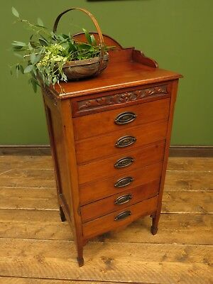 Antique Walnut Chest of Stationery Drawers, Art Nouveau Drawers