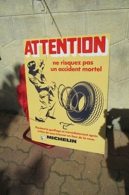 plaque michelin attention gonflage