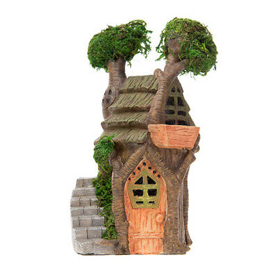 Miniature Dollhouse FAIRY GARDEN - Double Treehouse - Accessories