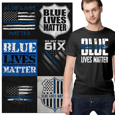 Support Blue Lives Matter Pro Cop TShirts Police Heroes Thin Blue Line Tee Shirt