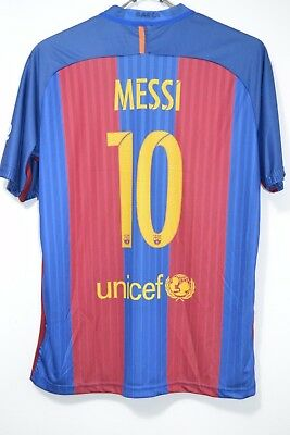 separation shoes 55aa7 806df FC BARCELONA #10 MESSI HOME 2016-2017 NIKE FOOTBALL SHIRT JERSEY CAMISETA  sz XL