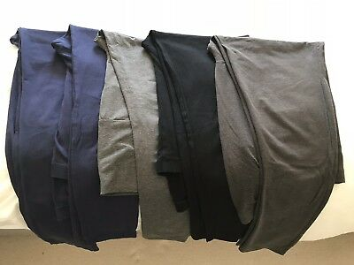 Maternity Leggings Size 16 Navy Black Grey Bundle 5 Pairs