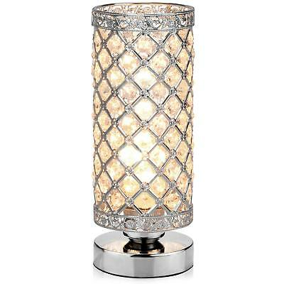 Table Lamp Petronius Crystal Nightstand Lightning Shade Home Living Room Decor