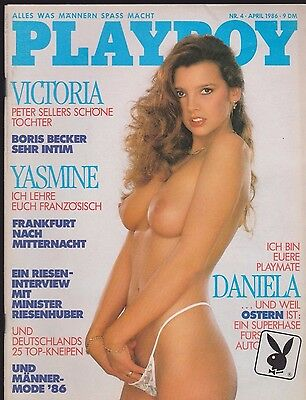 PLAYBOY 4/1986 April - Victoria Sellers, Boris Becker, Daniela Frei, mit Sticker