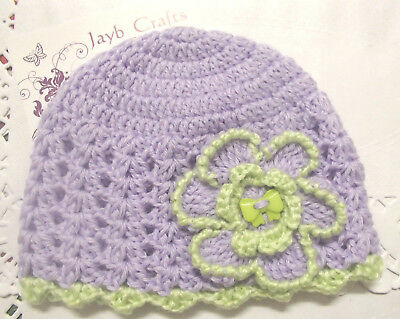 Handmade Crochet Baby Hat in Patons 4 ply baby yarn FH306