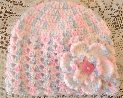 Handmade Crochet Baby Hat  in Patons baby 4 ply baby yarn FH609