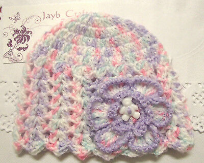 Handmade Crochet Baby Hat in Patons 4 ply baby yarn FH325