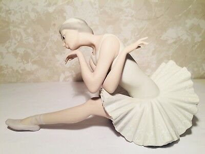 Retired Lladro 4855 Death Of A Swan Ballerina Matte  Finish Mint Condition