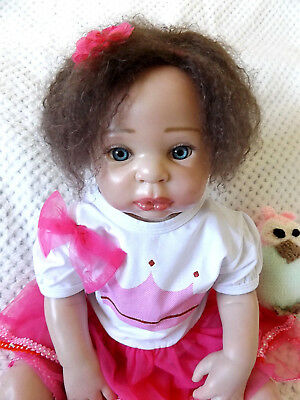 """Beautiful Reborn Doll Rosaly 22"""" Glass Eyes 7 Lbs, Willow Flower By Donna Rubert"""