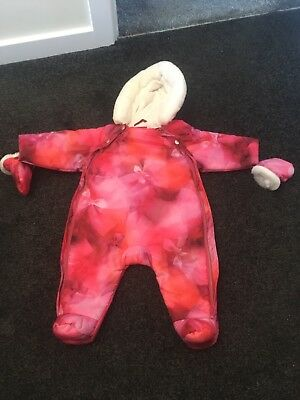 Baby Girl 3-6 Months Ted Baker Rose Snowsuit Coat Sleepsuit