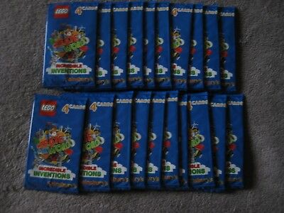 Sainsburys LEGO Create the world Incredible Inventions Cards 30packs of 4cards