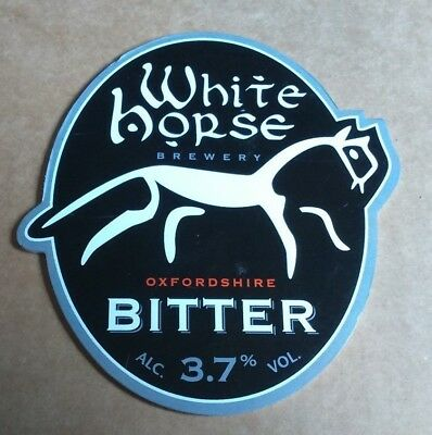 Beer pump badge clip WHITE HORSE brewery BITTER cask ale pumpclip front