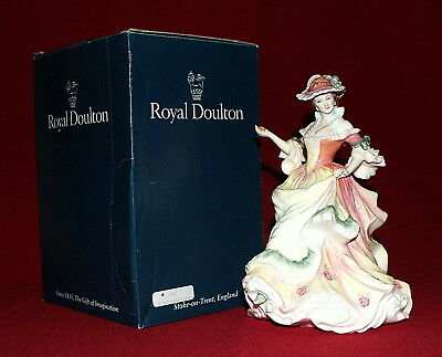 """ROYAL DOULTON """"ROSE"""" FLOWERS of LOVE Series Figurine HN 3709 W/Box MINT No Res"""