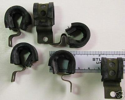 (6) NEW Surplus Metal Clamps w/ Rubber Guard Aviation Hardware pn. A3125-2-174