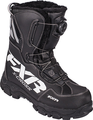 FXR X-CROSS BOA ADULT WARM BLACK SNOW BOOTS  - Sizes 7 - 8 - 9 - 10  - NEW