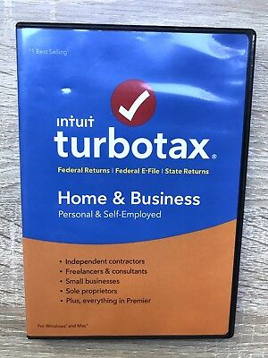 Intuit Turbotax Home & Business 2016 Edition Windows & Mac Personal & Self-Emplo