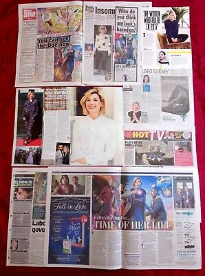 Dr Doctor Who Jodie Whittaker On Magical Journey UK Newspaper Clippings Cuttings