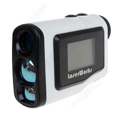 600Yards Digital Rangefinder Scope With LCD Screen for Golf Hunting 5 Mode White