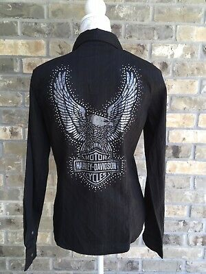 *NWT* Women's Harley-Davidson Long Sleeve Button Down Shirt Size Medium