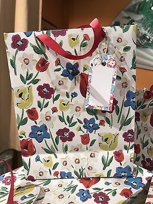 Cath Kidston Paradise Fields Hand Made Gift Bags With Ck Gift Tags X2