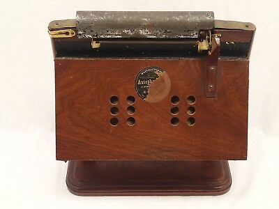 ANTIQUE 1878 AUTOPHONE Tabletop ORGANETTE by Henry HORTON w 6 MUSIC CARDS ORGAN