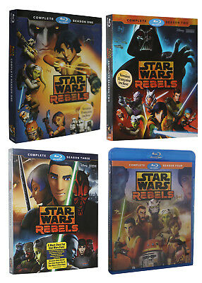 Star Wars Rebels Complete Animated TV Series Season 1 2 3 4 (Blu-Ray) Bundle Set