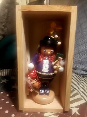 Steinbach Handmade Mini Puppet Nutcracker In Wooden Box Made In Germany New!