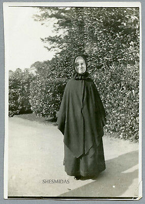 #978 A Spooky Nun in the Driveway, Vintage Photo
