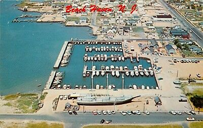 New Jersey Postcard: Aerial View Shelter Harbor, Lucy Evelyn At Beach Haven, Nj