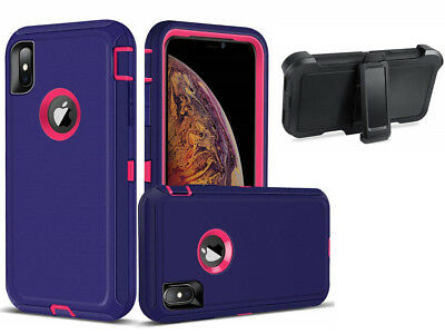 For Apple iPhone XS/XR/XS MAX,Defender Shockproof Case w/ Clip Fit Otterbox PPk