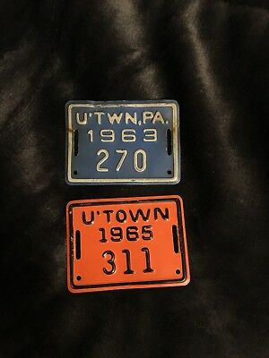 RARE! Two Uniontown Bicycle License Plates