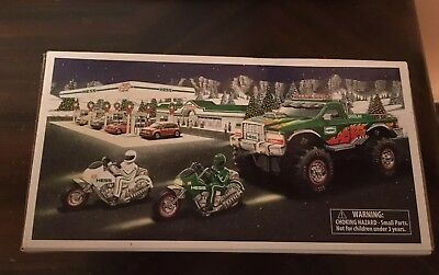 2007 Hess Monster Truck With Motorcycles NIB