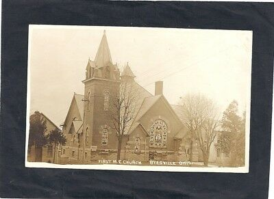 Byesville, Oh: Rppc: 1910: View Of First Methodist Church