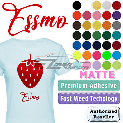 "Essmo™ Matte Solid Heat Transfer Vinyl HTV T-Shirt 20"" Heat Press Easy To Weed"
