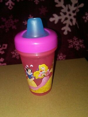 girl soft spout sippy cup Disney princesses belle sleeping beauty Cinderella