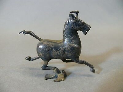 Vintage 1930s Chinese Silver Miniature Model of a Tang Flying Horse Figurine