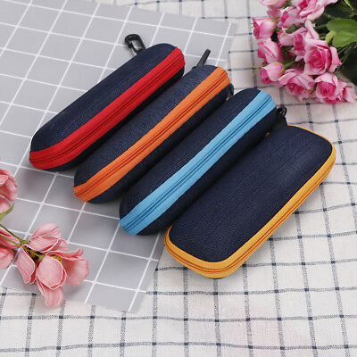 Portable rectangle grid zipper glasses case hard eyewear box for sunglasses ATAU