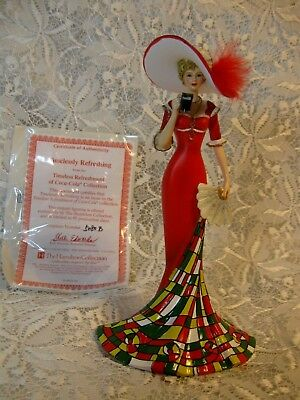 COCA-COLA Timelessly Refreshing Elegant Woman Figurine  Hamilton W/Certificate