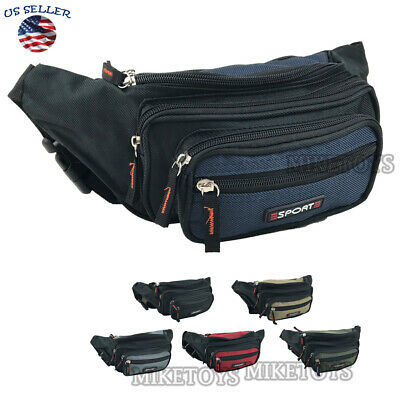 Fanny Pack Men Women Waist Belt Bag Purse Hip Pouch Travel Sport Bum 0000