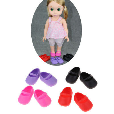 4 Pairs Sandals Shoes Flats for 16inch Dolls Casual Outfit Accessories