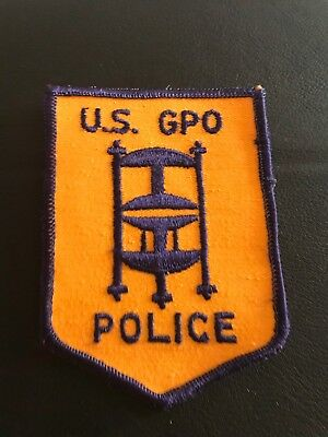 Old Washington DC GPO US Gov't Printing Office Police Patch