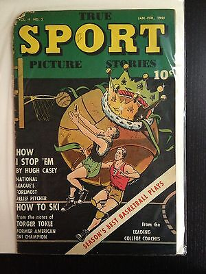 True Sport Picture Stories vol 4 #5 Jan-Feb 1948 Street & Smith Pub.