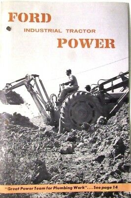 Ford Industrial Tractor Power 1956 Sales Booklet