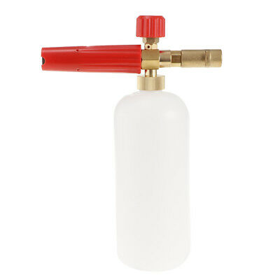 Pressure Washer Jet Wash Dispenser Bottle Foam Cannon for Car Wash Red