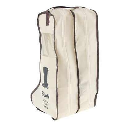 Boots Storage Bag Travel Shoes Cover Dustproof Protector Organizer Beige L