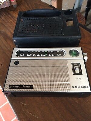 Vintage National Panasonic 11-Transistor Radio. 2 Band. Made In Japan.